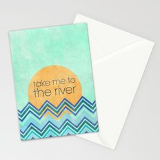 Take Me to the River Stationery Cards