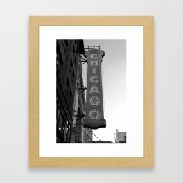 The Windy City Framed Art Print