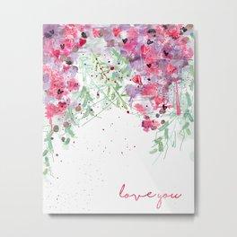 Falling flowers love Metal Print