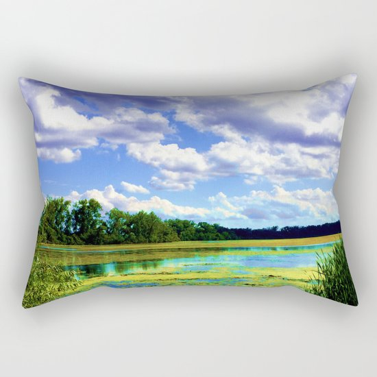Lake Wingra, Wisconsin Rectangular Pillow