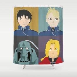FMA Character Print Shower Curtain