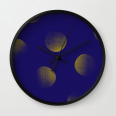 Golden Blues Wall Clock