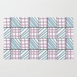 symetric tartan and gingham 25 -vichy, gingham,strip,square,geometric, sober,tartan Rug