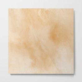Pastel Gold Marble Metal Print