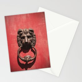 Red Door with Lion head Stationery Cards