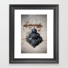 Cannonballs Framed Art Print