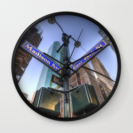 New York Street Sign Wall Clock