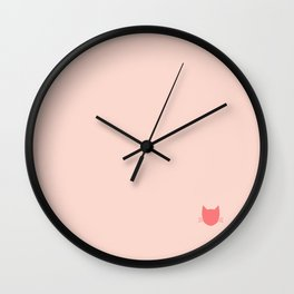 Pippin Pink -- Cat Colors Wall Clock
