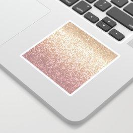 Champagne Gold Blush Pink Glittery Ombre Pattern #society6 Sticker
