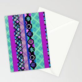 Striped patchwork -3 Stationery Cards