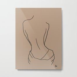 Female Curves (lounging after a bath) Metal Print