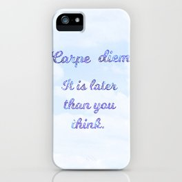 Horace lives life to the fullest iPhone Case