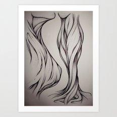 Hidden Curve Art Print