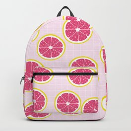 Cute Grapfruit on pink background Backpack