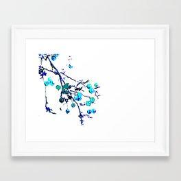 Blue Branch Framed Art Print