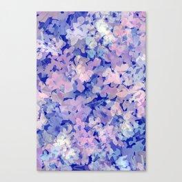 Indigo Evening Floral Canvas Print