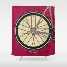 Single Speed Bicycle Shower Curtain