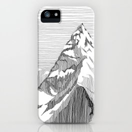 Mount Everest Black and White iPhone Case