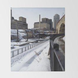 Stone Arch Bridge-Minneapolis, Minnesota Throw Blanket