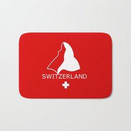 Switzerland and Matterhorn Bath Mat