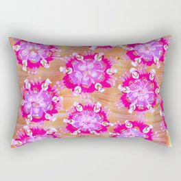 Pink Calliope Rose Rectangular Pillow