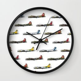 Classic B-17 Flying Fortress Continuous Pattern Wall Clock