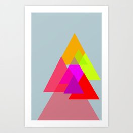 Triangles - Rouge color scheme Art Print