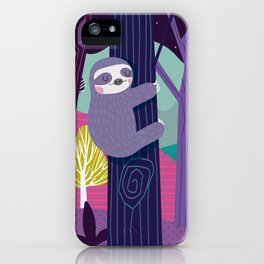Sloth in the woods iPhone Case