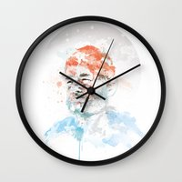 murray Wall Clocks featuring Bill Murray by I AM DIMITRI