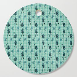 country blue flowers pattern Cutting Board