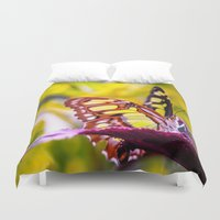 malachite Duvet Covers featuring Malachite by Cathy Donohoue