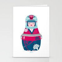 geisha Stationery Cards featuring Geisha by Piktorama