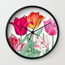 Tulips garden Wall Clock