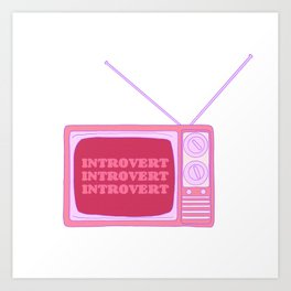 Introverted Broadcast Art Print