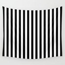 Stripe Black & White Vertical Wall Tapestry