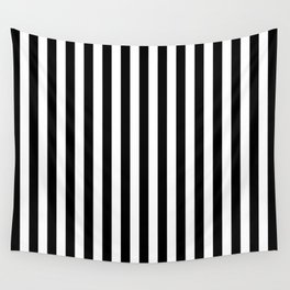 Stripe Black And White Vertical Line Bold Minimalism Wall Tapestry