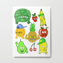 Fruit Chumps Metal Print