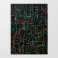 matrix Canvas Prints featuring Matrix by Jacqueline Maldonado