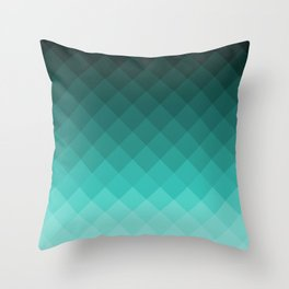 Ombre squares Throw Pillow