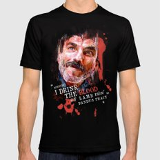 THERE WILL BE BLOOD (Daniel Plainview) LARGE Mens Fitted Tee Black
