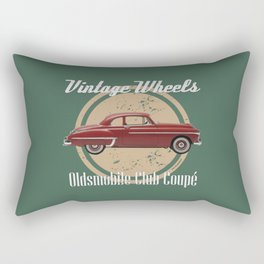 Vintage Wheels: Oldsmobile Club Coupé Rectangular Pillow