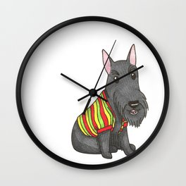 Rasta Scottie Wall Clock
