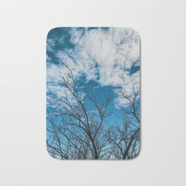 Blue blue sky Bath Mat