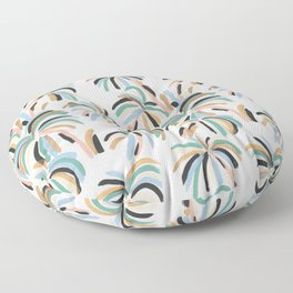 Rainbow Palm Floor Pillow