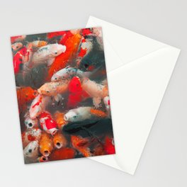 Fortune From The Koi Pond Stationery Cards