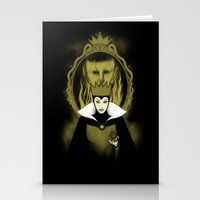evil queen Stationery Cards featuring Evil Queen by pigboom el crapo