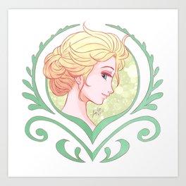 Crocus Elsa Art Print