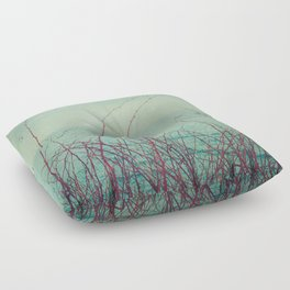 She Would Float and Stare at the Sky Floor Pillow