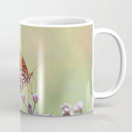 Gulf Fritillary butterflies feed on wildflowers Coffee Mug