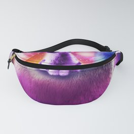 Kitty Cat Riding On Rainbow Llama In Space Fanny Pack